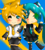 lenKagaminexneruAkat's Request Miku and Len by ashtonXgaara227