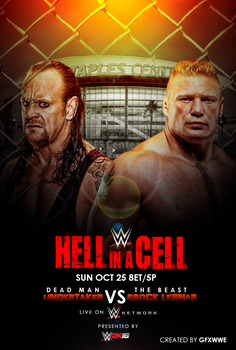 WWE Hell In a Cell 2015 Poster ver.1 by GFXWWE