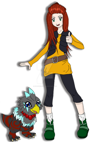 Digimon Chrono Key: Cassie + Katrimon