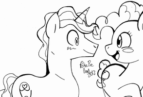 PokeyPie Ink Sketch by TheChaoticMistress