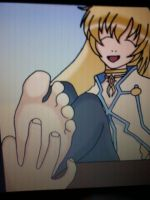 anime girl foot tickle by firestar335
