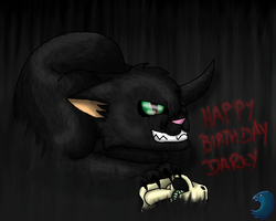 -Nightmare's Message- (Happy Birthday Darky) by WaterPhoenixWarrior