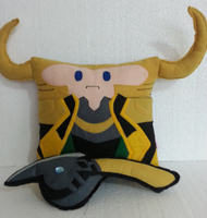 Handmade The Avengers Loki with Staff Plush Pillow by RbitencourtUSA