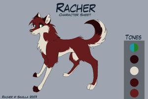 Racher new Character Sheet by Skailla