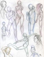 Figure Drawings by SpottedNymph