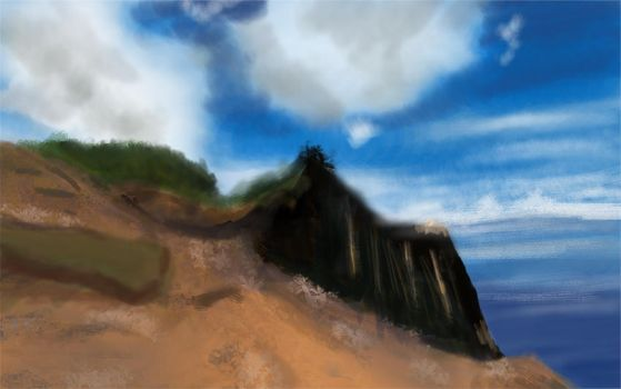 Virtual Plein Air Painting First Attempt Smaller S by Demon-Shadow-Wolf