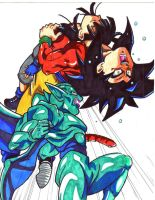 ssj4 goku back breaker by trunks24
