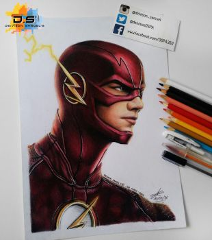 The Flash CW Drawing by DSPA360
