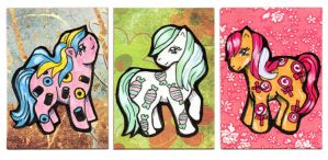 Sweetie Baby Ponies ATC/ACEO by valurauta