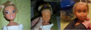 Attempt at repainting a Bratz Doll by kayanah