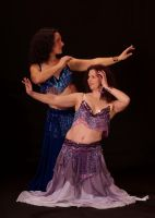 Clarissa and Carly Bellydancer by hennanights