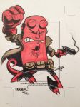 HELLBOY sketchcard by thecheckeredman