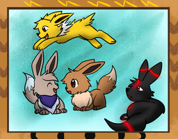 Us Eeveelutions by ImagineitSplotched