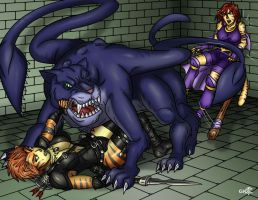 Catfight by greytei
