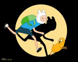 Adventure Time x Tintin by pacman23