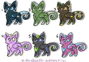 1 LEFT Leighlis Adopts Batch 2 by StarSushi-Adopts