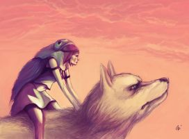 princess mononoke by Rats-in-the-van