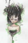Playing with Ink and Watercolor - Jade Harley by Kasugaxoxo