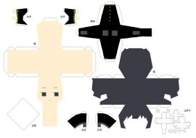 Black Japan Papercraft by PirateAngel3