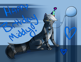 .:Happy Birthday Middy:. 15 by Starkke