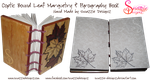 Handmade Coptic Bound Leaf Book - Inside Covers by snazzie-designz