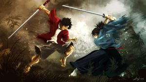 FAN ART SAMURAI CHAMPLOO by chuyDeleon
