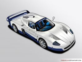 Maserati-MC12-Blue by TheBoxCar