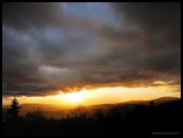 Winter storm sunset by Discomax