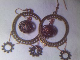 Brass, Bronze + Gears Earrings by stardove3