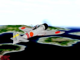 Mitsubishi A6M2 Zero Fighter by pete7868
