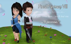 Final Fantasy VIII, Squall and Rinoa by CGHow
