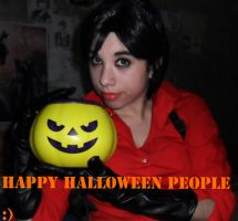 Happy Halloween to all from ada wong by danycamaleon