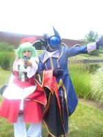 C.C. and Zero Cosplay by CodeGeass90