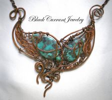 Phoenix Feathers by blackcurrantjewelry