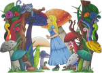 Alice in Wonderland by Rhedrin