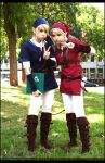 Blue and Red Link + II + by Fay-lin