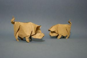 Origami Pig by GEN-H