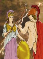 Ares and Athena by torwjn