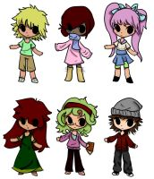 Group human adopts 1/6 OPEN by InuLover097