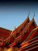Roof Wat Pho by Stephanie4