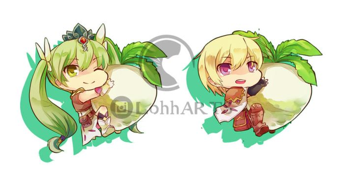 Frey and Lest Chibi by kcpasin