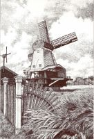 Dutch Windmill by penguinluv4ever