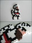Ghosts n Goblins Arther bead sprite magnet by 8bitcraft