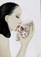 Kiss The Skull  by Angel-Of-Wolf
