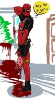 Deadpool Tries to be a Pinup Girl by Teddie-Chan