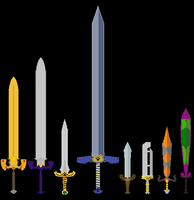 Legend of zelda swords. by Quazzak