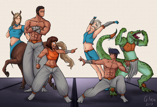 a party with some tough guys by Bekuta