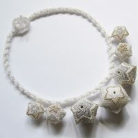Neve necklace with beaded beads by Sol89