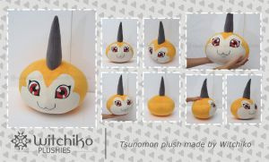 Tsunomon plush::::: by Witchiko