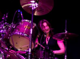 After Hours Blues Band Drummer Ann Batty I by DundeePhotographics